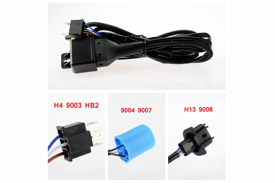 Details about HID Hi Lo Bi-Xenon Relay Harness Wiring Controller H4 on 9004 bulb wiring, 9003 bulb wiring, h4 to h13 wiring,